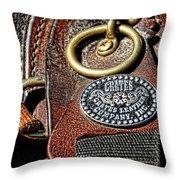 Her Saddle Throw Pillow