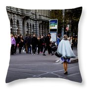 Her With The Cape Throw Pillow