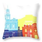 Heraklion Skyline Pop Throw Pillow