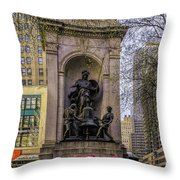 Herald Square - Nyc Throw Pillow