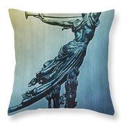 Heraldic Memorial Statue At Gettysburg Throw Pillow
