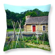 Herb And Vegetable Garden Throw Pillow