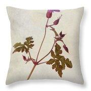 Herb Robert - Wild Geranium  #flower Throw Pillow