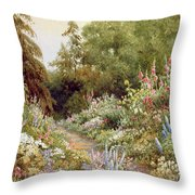 Herbaceous Border  Throw Pillow