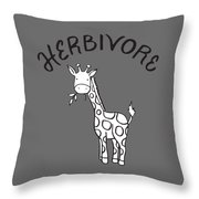 Herbivore Throw Pillow
