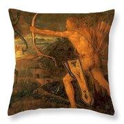 Hercules Kills The Symphalic Bird 1520 Throw Pillow