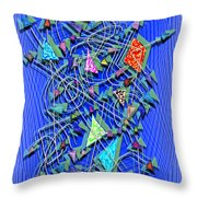 Here And There - Scattered Thoughts Throw Pillow
