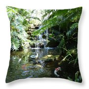 Here Come Some Friends Throw Pillow