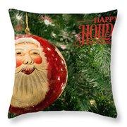 Here Comes Santa Claus Throw Pillow