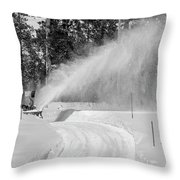 Here Comes That Snowblower Again Throw Pillow