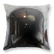 Here Comes The Bus Throw Pillow
