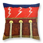 Here Comes The Flood Throw Pillow