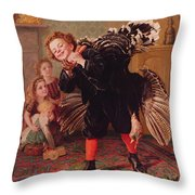 Here Comes The Gobbler Throw Pillow