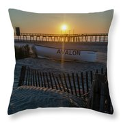 Here Comes The Sun - Avalon New Jersey Throw Pillow