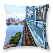 Here Comes The Train Throw Pillow