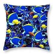 Here, Fishy, Fishy Throw Pillow