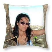 Here I Am Bug Throw Pillow