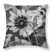 Here I Am In Black And White Throw Pillow