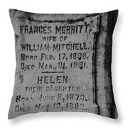 Here Lies Frances And Helen Throw Pillow