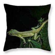 Here Lizard Lizard Throw Pillow
