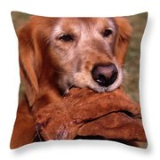 Here To Serve Throw Pillow