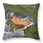 Here You Go.... Throw Pillow