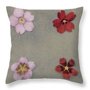 Heredity In Primula Sinensis, Mendel Throw Pillow