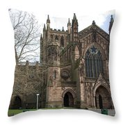 Hereford Cathedral  England Throw Pillow