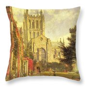 Hereford Cathedral Throw Pillow