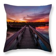Heritage Boardwalk Twilight - Square Throw Pillow
