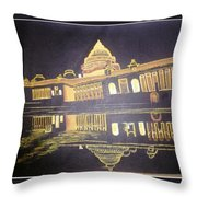 heritage of india - The president house Throw Pillow