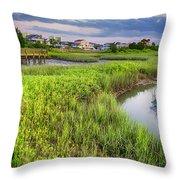Heritage Shores Nature Preserve Throw Pillow