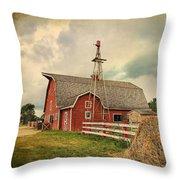 Heritage Village Barn Throw Pillow
