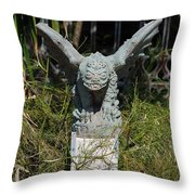 Herman Gargoyle Throw Pillow