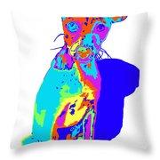 Hermana Muy Curiosa Throw Pillow