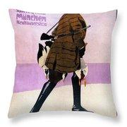 Hermann Scherrer Sporting Tailor - Munich, Germany - Vintage Advertising Poster Throw Pillow