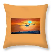 Hermes U A V 450 British Army Throw Pillow