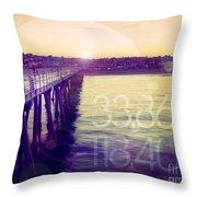 Hermosa Beach California Throw Pillow