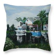 Hernando Beach Throw Pillow