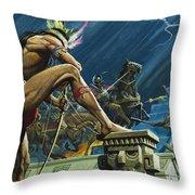 Hernando Cortes Throw Pillow