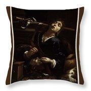 Herodias With The Head  Throw Pillow
