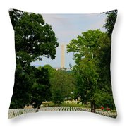 Heroes And A Monument Throw Pillow