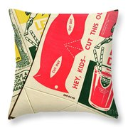 Heroes And Villans  Throw Pillow