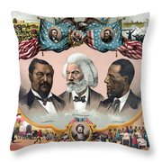 Heroes Of The Colored Race  Throw Pillow