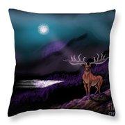 Heroic Landscapes #22- Great Irish Elk Throw Pillow
