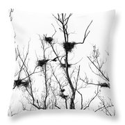 Heron 2 Throw Pillow
