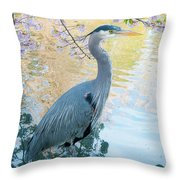 Heron - Beacon Hill Park Throw Pillow