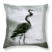 Heron De Nacht Throw Pillow