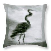 Heron De Nacht Throw Pillow
