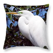 Heron Deep Contemplation Throw Pillow